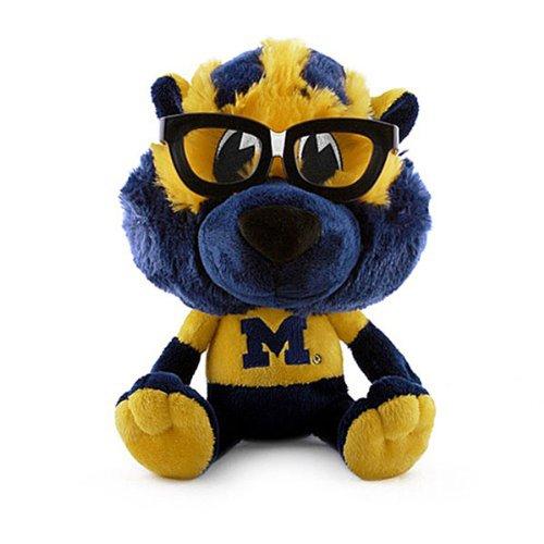 NCAA Michigan Wolverines Study Buddy Plush Toy, Medium, Blue (Wolverine Mascot)