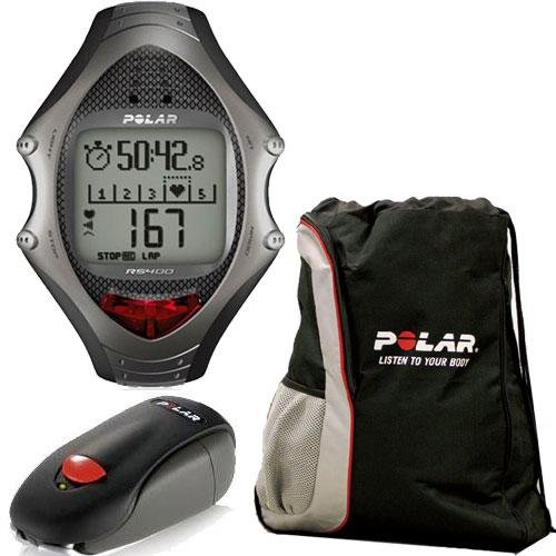 Cheap Polar RS-400SD Heart Rate Monitor With IR Interface and FREE Polar Cinch Bag (RS-400SDKit)