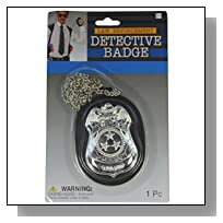Law Enforcement Cop Detective Badge With Chain