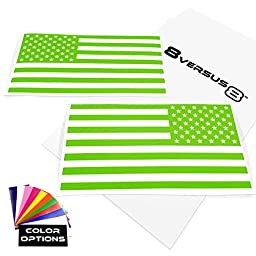 USA American Flag Vinyl Decal Sticker - Quantity: 2 - Indoors or Outdoors - Cars, Laptops, Windows, etc. (6.5\