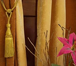 Pair - Golden Decorative handmade Tiebacks / Tassel / Curtain Holdback