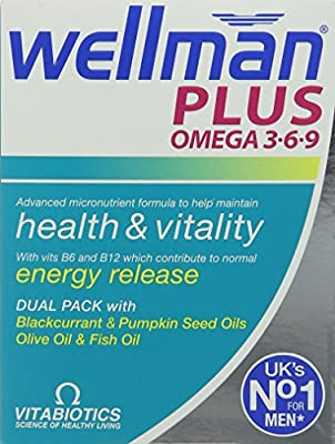 Vitabiotics Wellman Plus Omega 3?6?9 - 56 Tablets/Capsules by VITABIOTICS LTD