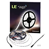 LE-Waterproof-12V-Flexible-LED-Strip-Lights-6000K-Daylight-White-300-Units-SMD-5050-LEDs-218-Lumensft-44-wattsft-12-Volt-LED-Light-Strips-Pack-of-164ft5m