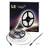 LE Waterproof 12V Flexible LED Strip Lights - 6000K Daylight White - 300 Units SMD 5050 LEDs - 218 Lumens ft - 4.4 watts ft - 12 Volt LED Light Strips - Pack of 16.4ft 5m