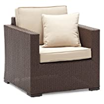 Strathwood Griffen All-Weather Wicker Chair Dark Brown