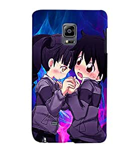 Fuson Love Couple Back Case Cover for SAMSUNG GALAXY NOTE EDGE - D3782