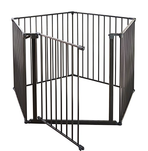 "Baby Dan Safety Gate Enclosure, Black, 35"" x 138"""
