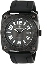 Smith & Wesson Men's SWW-5900 Flight Deck Black Rubber Strap Watch