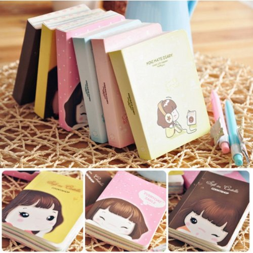 Big Bargain Cute Korea Biscuits Girl Diary Notebook Girl Notepads Stationery
