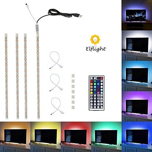 elflightrusb-led-tv-hintergrundbeleuchtung450cm-flexible-rgb-farbwechsel-usb-streifen-licht-kit-mit-