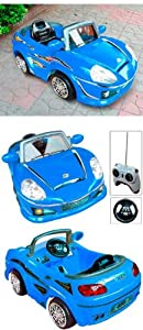 Electric Kids Ride on Cars Toys with Remote Control Blue