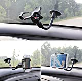 BRILA® easy-to-use universal car mount for smartphones, GPS, premium Windshield Dashboard Car Mount Holder for galaxy s5 s4 s3 s2 note 4 note 3 note 2, Htc one max m8 m7, iphone 6 4,7, iphone 6 plus, iphone 5s 5g 4s 4g 3gs, sony Z2 z1. LG g2 G pro2, G3, LG flex, Nokia 1520, huawei mate2, Asus zenfone 5, zenfone 6, GPS navigation and all smart gadgets