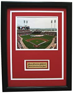 Buy CGI Sports Memories Cincinnati Reds Great American Ballpark Photo with Double Mat by CGI Sports Memories
