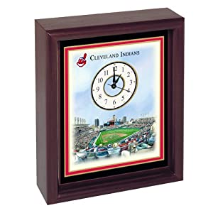 Cleveland Indians Jacobs Field Stadium Colorprint Desk Clock by Cleveland