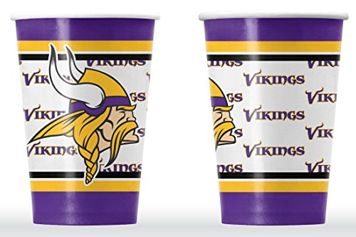 NFL Minnesota Vikings Disposable Paper Cups (20-Pack) (Minnesota Cup compare prices)