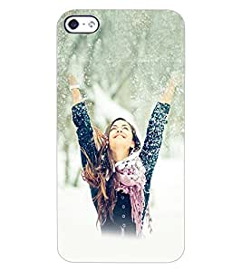 ColourCraft Beautiful Girl Design Back Case Cover for APPLE IPHONE 4
