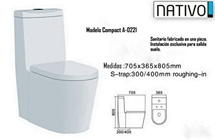 Nativo compact a 0221 sanitario compacto a pared for Repuestos sanitarios