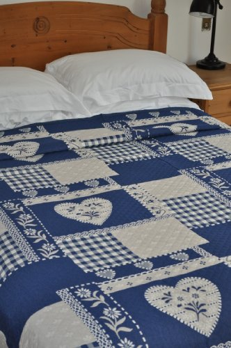 Design Port Montana Blue Luxury Single Bedspread or Throw