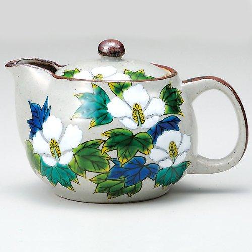 Kutani Yaki(Ware) Japanese Teapot Cotton Rose (With Tea Strainer)
