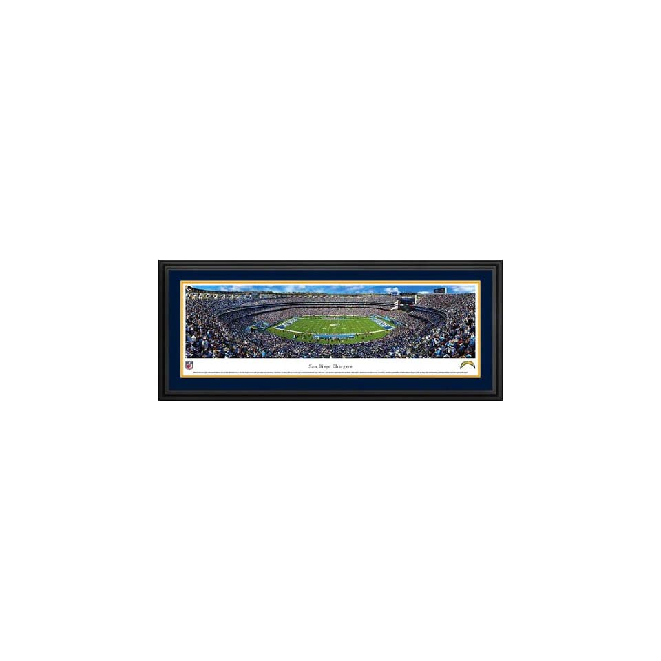San Diego Chargers   Qualcomm Stadium   Framed Poster Print