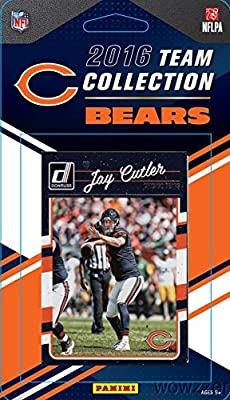 Chicago Bears 2016 Donruss NFL Football Factory Sealed Limited Edition 12 Card Complete Team Set with Jay Cutler, Jonathan Bullard RC, Legend GALE SAYERS & Many More! Shipped in Bubble Mailer!