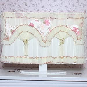 NEEWER® Romantic Floral Lace Protector TV Anti-Dust Cover for 55 inch LED / LCD / PLASMA TV - Unfolded 140*12*95 CM