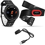 Garmin Forerunner 630 GPS Smartwatch W/ HRM-Run - Black/White - Charging Clip Bundle Includes Forerunner 630 GPS...