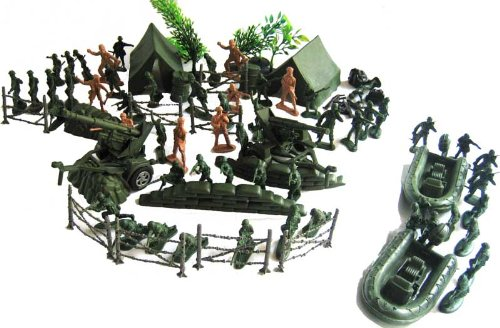 Buy Low Price Military Series 120pc Military Toy Army Men Soldier Play Set Figure (B002EE4I1M)