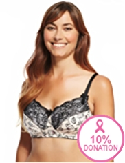 Limited Collection BCAM Post Surgery Contrast Print Non-Wired A-DD Bra