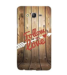 Follow the Love 3D Hard Polycarbonate Designer Back Case Cover for Samsung Galaxy On5 :: Samsung Galaxy On 5 G550FY