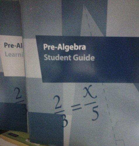 K12 Pre-Algebra (Learning Coach Guide) And Pre-Algebra (Student Guide)