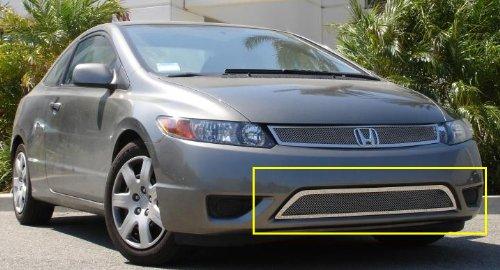 【US直輸入正規品】 T-REX ティーレックス Honda Civic (ホンダ シビック) クーペ 2006-2008年 アッパークラスメッシュグリル ※バンパーグリル用1ピース