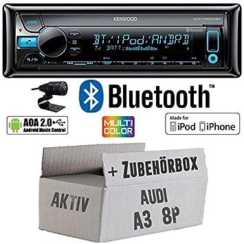 Audi A38P-Kenwood actif de X5000bt-Bluetooth Kit de montage autoradio CD/MP3/USB varioc OCTOCOLOR -