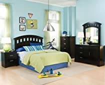 Hot Sale Standard Furniture Free2b 5 Piece Kids' Headboard Bedroom Set In Black