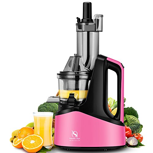 Best Deals! Natalie Styx New Generation Wide Chute Anti-Oxidation Slow Masticating Juicer (Pink, 240...