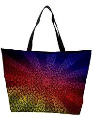 Snoogg Abstract Sun Rays Designer Waterproof Bag Made Of High Strength Nylon