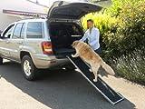 DoggyStep Hunderampe - wahrscheinlich weltweit leichteste - nur ca. 4,9 kg - klappbar - Länge: 162 cm Breite: 39 cm - belastbar bis max 85 kg - Farbe: silber -
