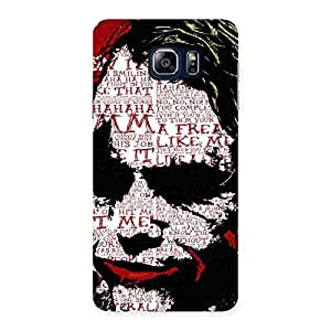 Delighted Insane Writing Back Case Cover for Galaxy Note 5