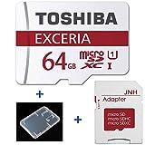 TOSHIBA 東芝 microSDXC 64GB UHS-I 防水 耐X線 超高速 エコパッケージ (64GB  48MB/s) [並行輸入品]