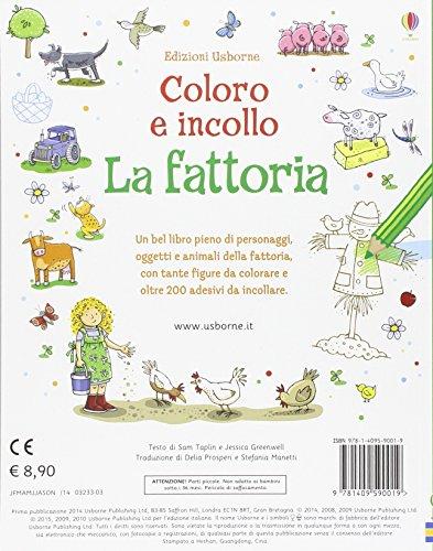La fattoria. Coloro e incollo. Con adesivi (Libri stickers)