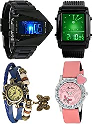 Pappi Boss Analogue-Digital Multi-Colour Dial Women's Watches -Dual Couple Wrist Watches