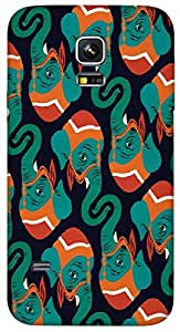 Timpax Protective Hard Back Case Cover With access to all controls and ports Printed Design : A group of elephants.Precisely Design For : Samsung Galaxy S5 mini ( SM 800G )
