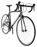 Vilano FORZA 2.0 Aluminum Carbon Shimano Tiagra Road Bike, Matte Grey, 53cm/Medium