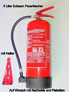 Feuerlöscher 6 Liter Schaum mit Wandhalterung