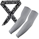 The Elixir Scorpion UV Protective Compression Arm Sleeves Coolers With Ice Chill Cooling Scarf Headband Set (Various...