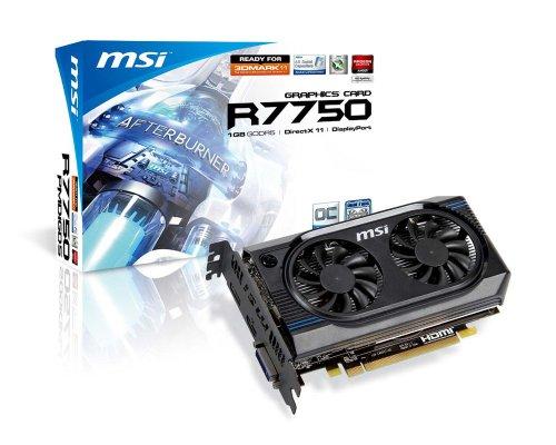 MSI ATI Radeon HD7750 OC 1 GB DDR5 DVI/HDMI/DisplayPort PCI-Express Video Card (R7750-PMD1GD5/OC)
