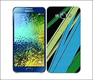 Galaxy Printed 2666 Ray Stripes Surfer Blue Hard Cover for Samsung CORE PLUS