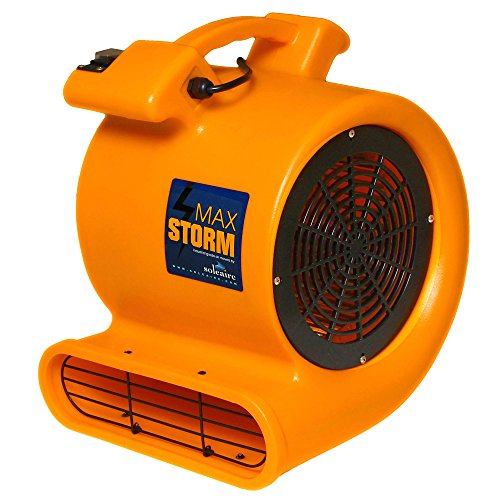 Max Storm Orange 2550 CFM Durable Lightweight Carpet Drying Fan Blower Air Mover Draw Low Amps Move Large Volumes of Air for Pro Janitorial or Carpet Cleaning Business ... (Left Blowers compare prices)