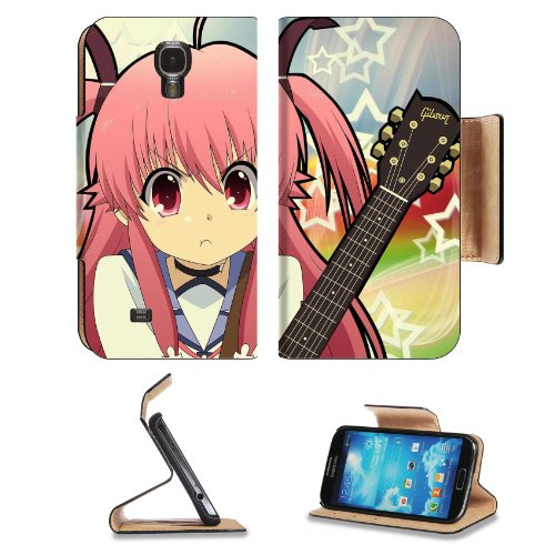Angel Beats Yui Pouty Mouth Samsung Galaxy S4 Flip Cover Case With Card Holder Customized Made To Order Support Ready Premium Deluxe Pu Leather 5 Inch (140Mm) X 3 1/4 Inch (80Mm) X 9/16 Inch (14Mm) Liil S Iv S 4 Professional Cases Accessories Open Camera
