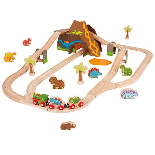 Bigjigs-Toys-Rail-Dinosaur-Train-Set